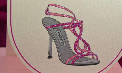 Glittered Shoe