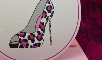 High Heel Glittered Shoe