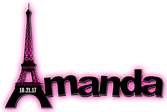 Amanda's Paris Themed Bat Mitzvah Logo