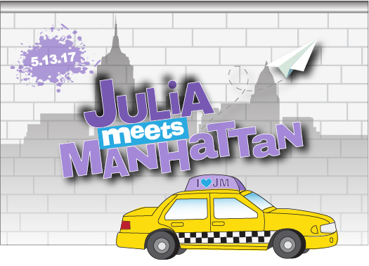 Julia's Manhattan-themed Bat Mitzvah Logo
