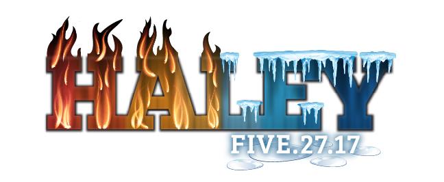 Haley's Fire & Ice Theme Bat Mitzvah Logo