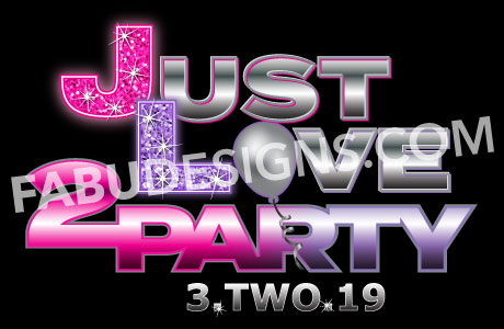 Just Love 2 Party Bnai Mitzvah Logo