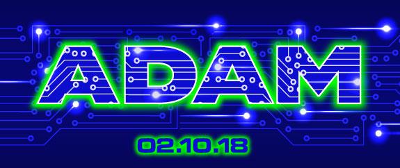 Adam's techno Bar Mitzvah logo