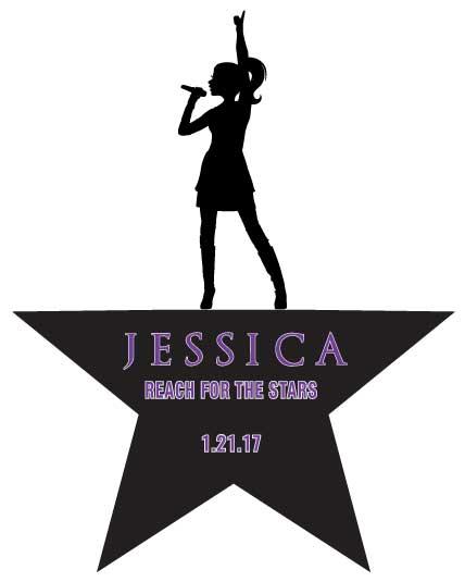 Jessica's Hamilton inspired Bat Mitzvah logo