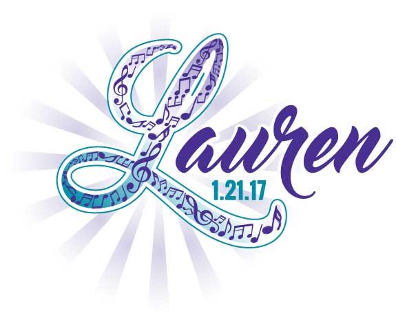 Lauren's Lyrical Lounge Bat Mitzvah logo
