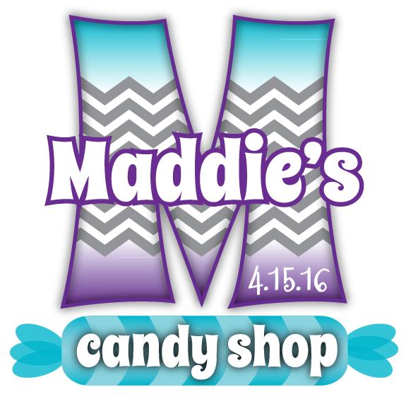 Maddie's Bat Mitzvah Candy Shop Logo