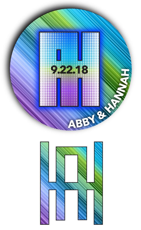 Abby & Hannah's Bnai Mitzvah Logo