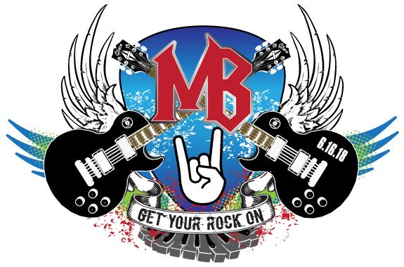 "Michael's ""Get Your Rock On"" Bar Mitzvah logo"