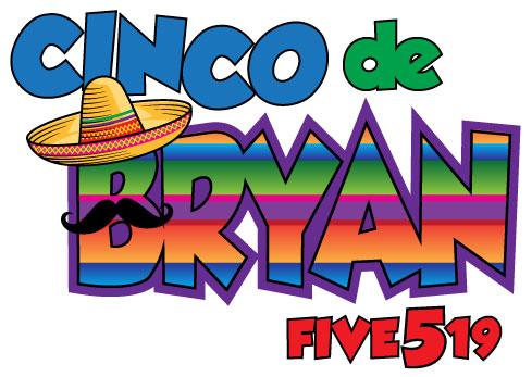 Cinco de Bryan Bar Mitzvah logo