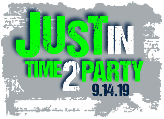 JUSTin's time to Party Bar Mitzvah logo