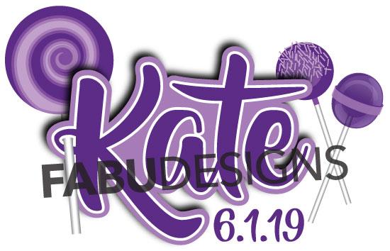 Kate's candy inspired Bat Mitzvah logo