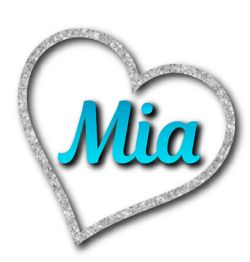 Mia's Heart Bat Mitzvah Logo