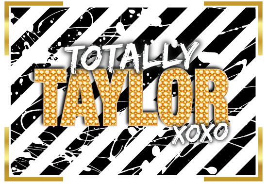 Totally Taylor's Bat Mitzvah logo